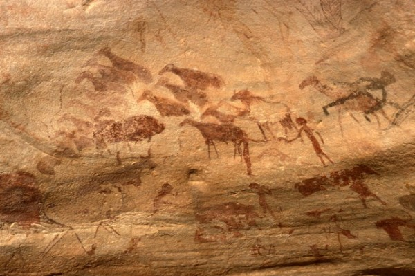 Site de Sefar (Tassili N'Ajjer, Algérie) / Peinture rupestre / 46N-P61-004