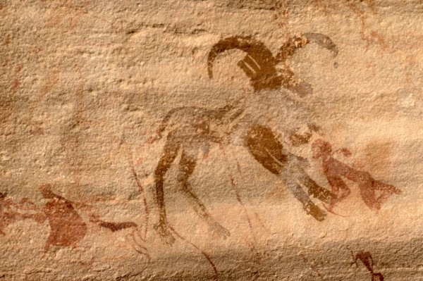 Site de Sefar (Tassili N'Ajjer, Algérie) / Peinture rupestre / Mouflon / 46N-P61-006