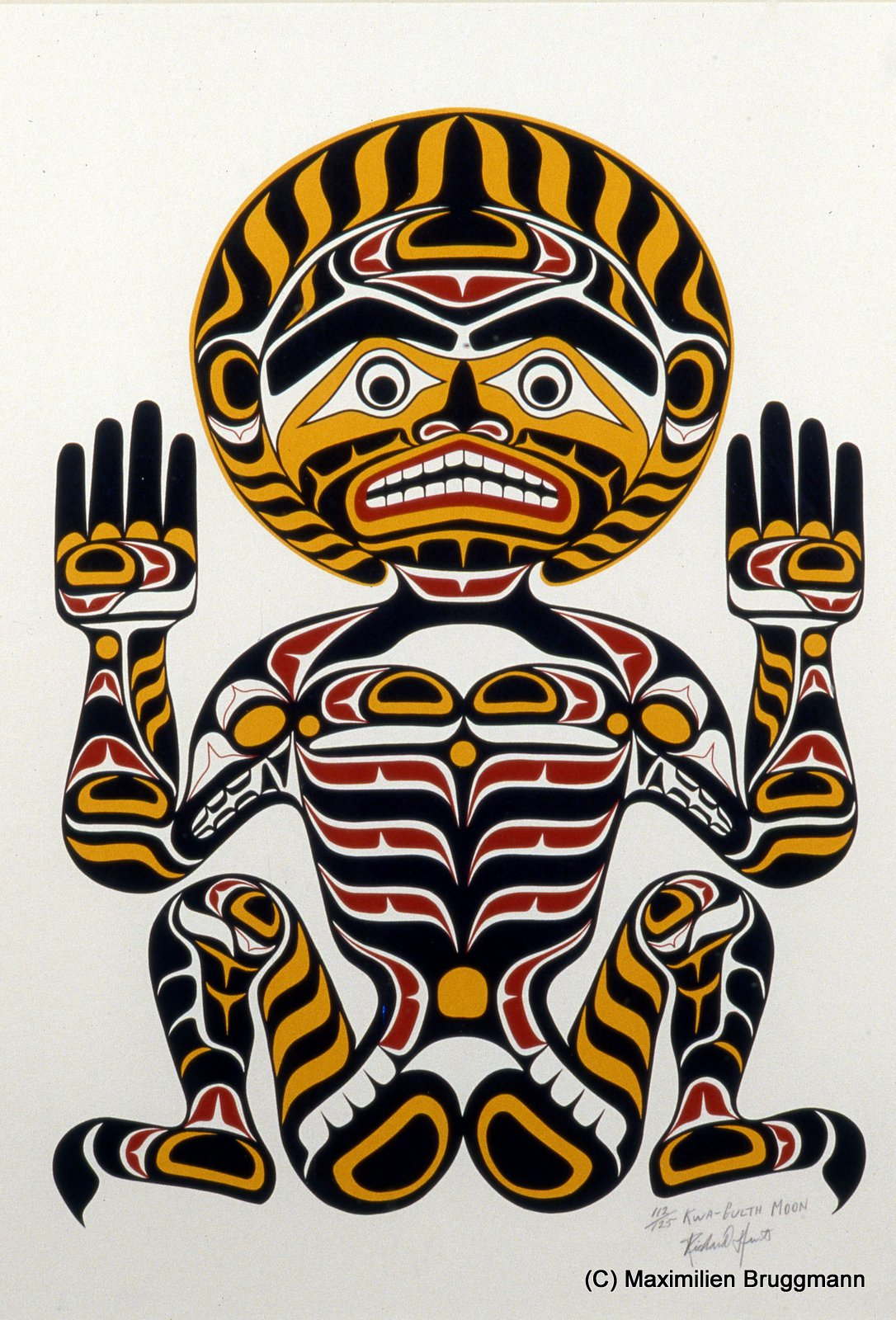 color yellow, typical characteristics of the Kwakiutl style. (65cm, 1978)