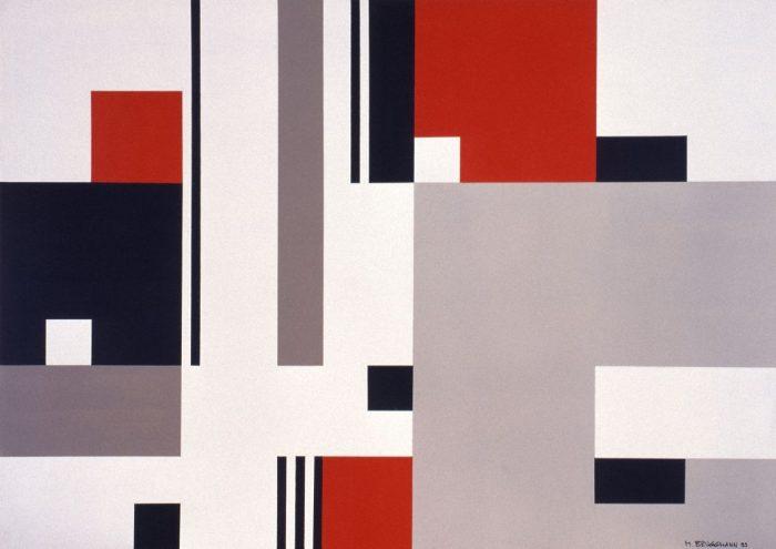 Composition Acrylique sur bois, 1999