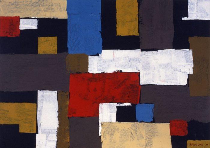 Géometrie gestuelle / Acrylique sur bois / 1999