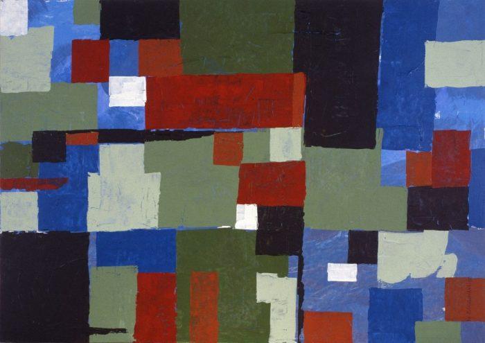 Patchwork / Acrylique sur bois / 1999