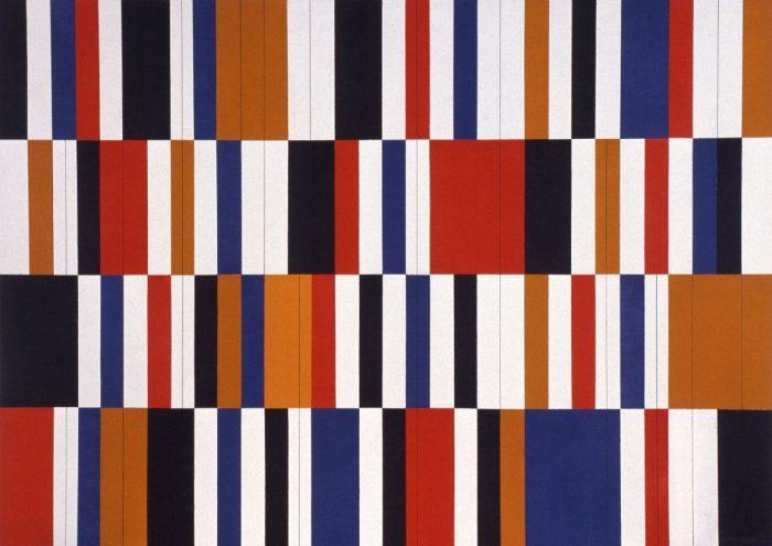 Tissu africain / Acrylique sur bois / 1999