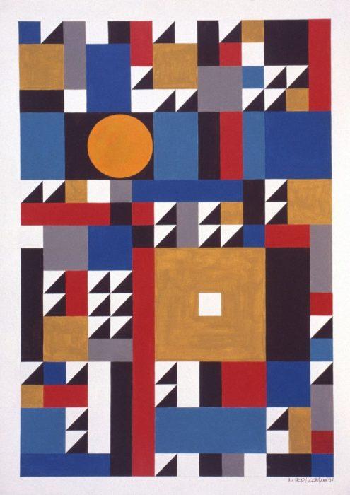 Soleil africain / Acrylique sur bois / 1997