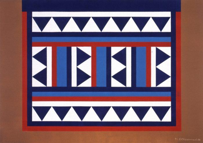 Tapis de selle touareg / Acrylique sur bois / 1999