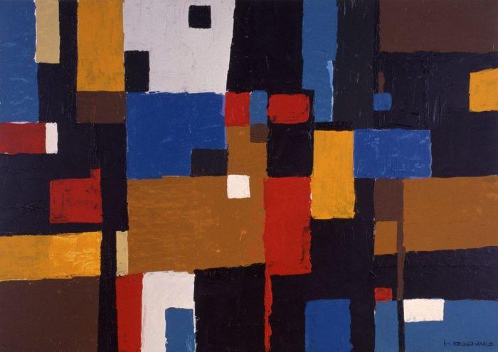Géometrie urbaine / Acrylique sur bois / 1999