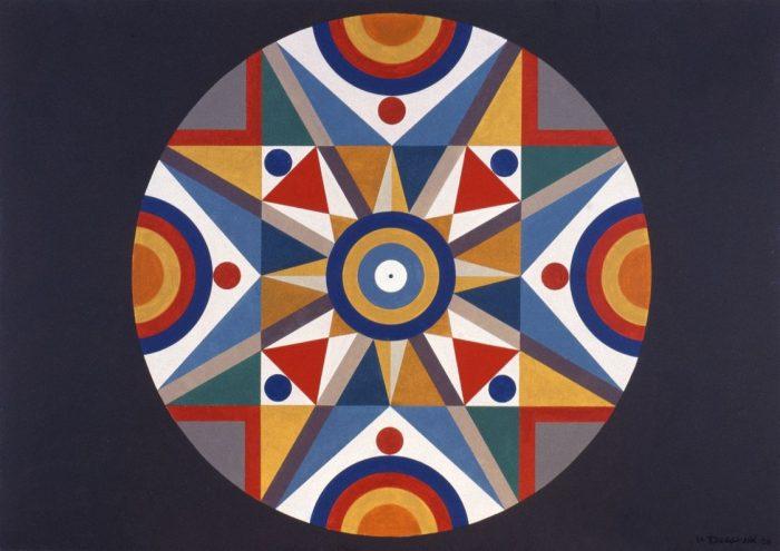 Mandala 1 / Acrylique sur bois / 1998