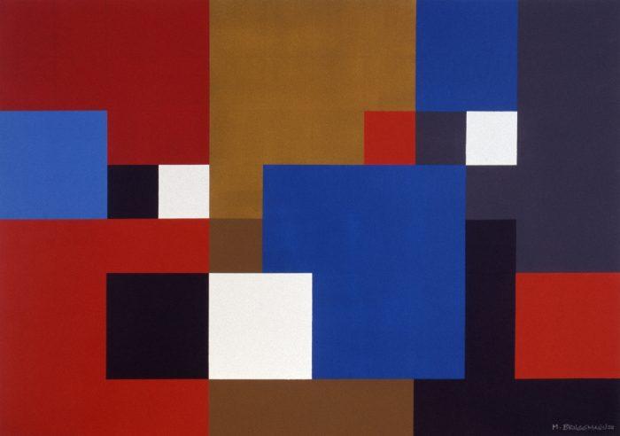 Trois carrés blancs / Acrylique sur bois / 1999
