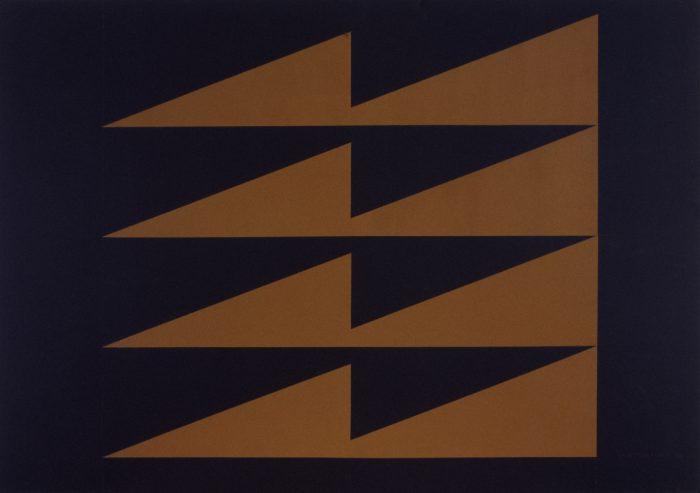 L'éclair des lndiens / Acrylique sur bois / 1999