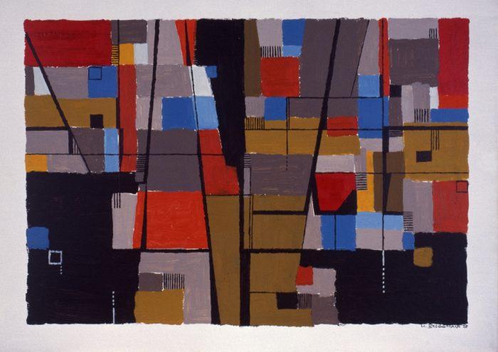 Downtown / Acrylique sur bois / 1998