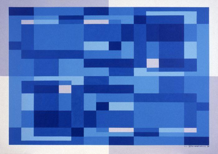 Rhapsody in blue / Acrylique sur bois / 1998