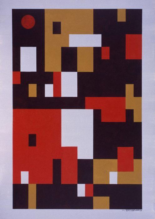 Le soleil rouge / Acrylique sur bois / 1998