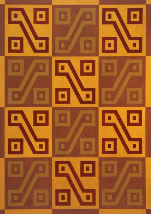 Uncu (poncho) inca, détail / Acrylique sur bois / 1998