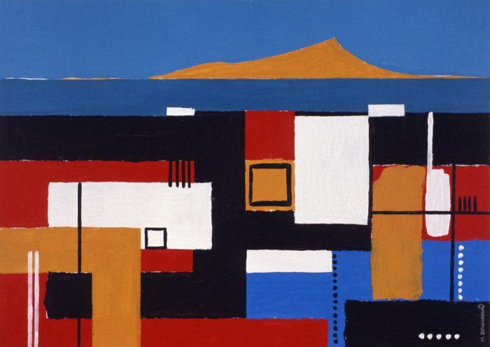 Puerto descansado / Acrylique sur bois / 1999