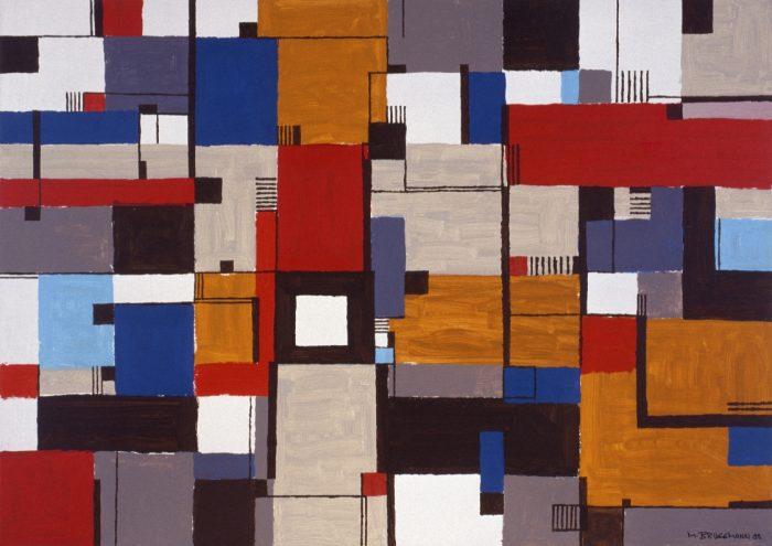 La place du Carré blanc / Acrylique sur bois / 1997