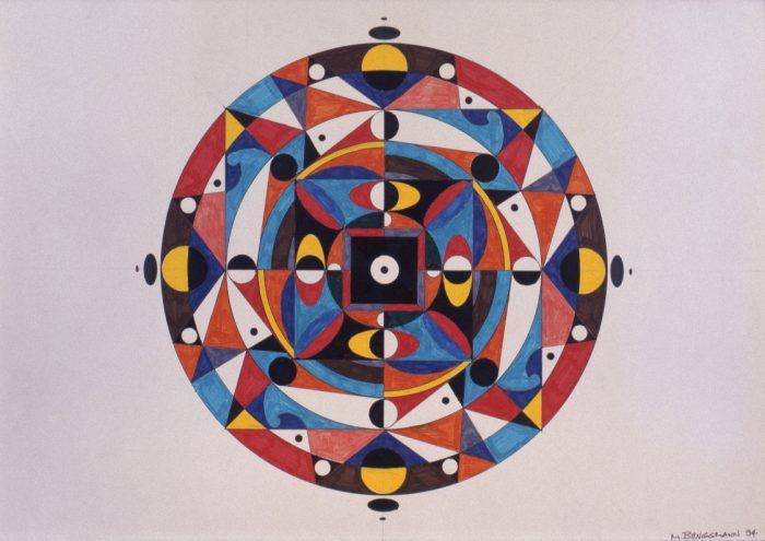 Mandala 2 / Stylo feutre sur bristol / 1994